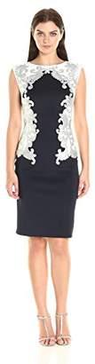 Tadashi Shoji Women's Neoprene with Sequin Detail Dress,XS