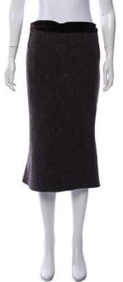 Ralph Lauren Tweed Wool Skirt Brown Tweed Wool Skirt