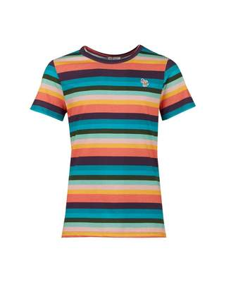 Paul Smith Terence Multi Striped Logo Patch T-shirt Colour: MULTI, Siz