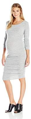 Ripe Maternity Women's Maternity Textured Knit Cocoon Dress,XL