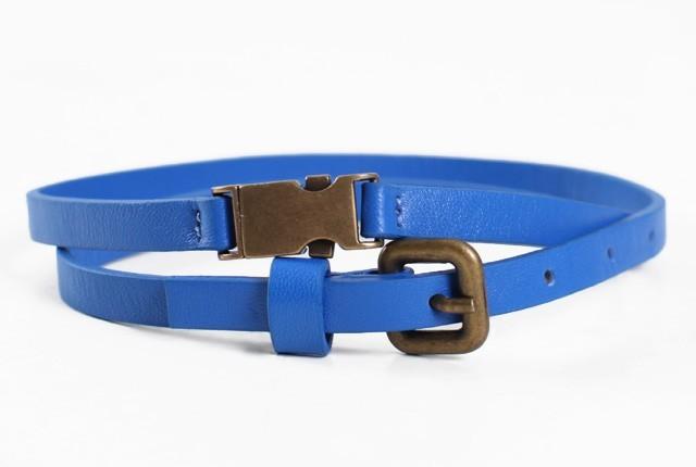 Leather Belt - Cobalt