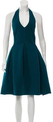 Halston Knee-Length Halter Dress w/ Tags
