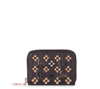Christian Louboutin Panettone black logo studded coin purse