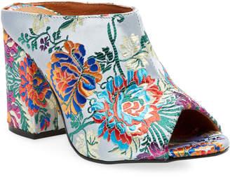 Renvy Brocade Block Heel Mule
