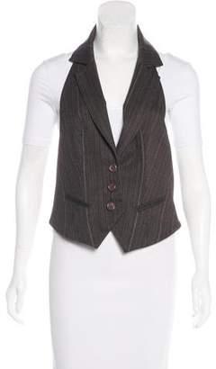 Robert Rodriguez Notch-Lapel Pinstripe Vest