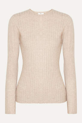 Allude Ribbed Cashmere Sweater - Beige