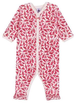 Petit Bateau Baby Girl Bird Print Mia Pajama