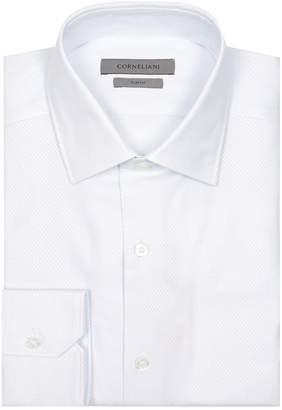 Corneliani Textured Cotton Micro-Pattern Shirt