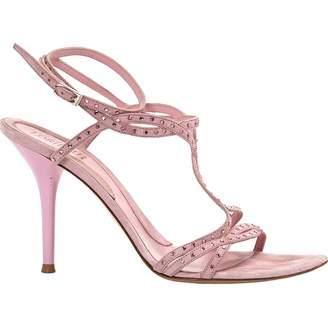 Loriblu Pink Suede Sandals