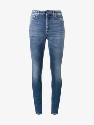 Saint Laurent Blue high waisted skinny jeans