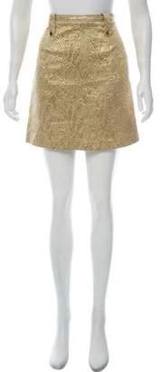 Burberry Jacquard Mini Skirt