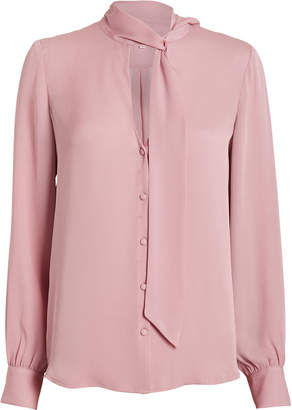 Intermix Sophie Tie Neck Blouse