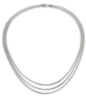 John Hardy Classic Chain Sterling Silver Mini Multi-Strand Necklace