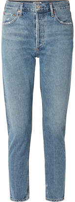 A Gold E AGOLDE - Jamie High-rise Straight-leg Jeans - Blue