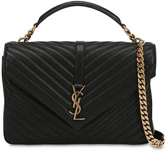 Saint Laurent Large College Monogram Leather Bag