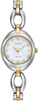 Citizen 24mm Silhouette Two-Tone Bracelet Watch