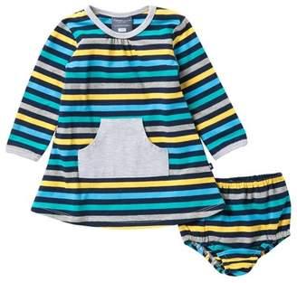 Toobydoo Jamie Stripped Pocket Dress (Baby & Toddler Girls)