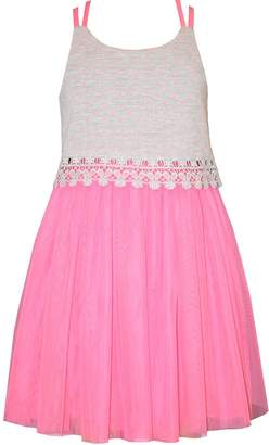 Bonnie Jean Tween Girls Pink Lace Tulle Sundress