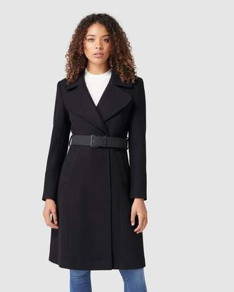 Forever New Stephanie Belted Fit & Flare Coat