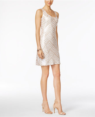 GUESS Sequined Geometric Sheath Dress $128 thestylecure.com