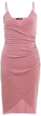 Quiz Mauve Wrap Front Bodycon Dress