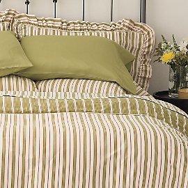 Organic Cotton Vintage Stripe Reversible Shams