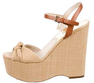 MICHAEL Michael Kors Woven Ankle Strap Wedges