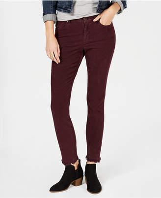 Style&Co. Style & Co Petite Frayed Corduroy Ultra-Skinny Pants