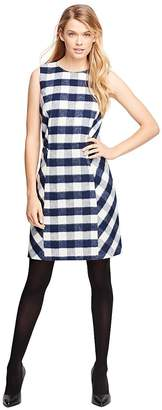 Wool Blend Buffalo Check Sleeveless Dress $178 thestylecure.com