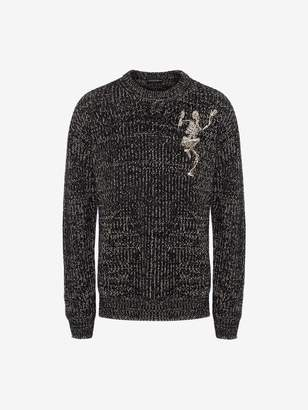 Alexander McQueen Dancing Skeleton Chunky-Knit Sweater