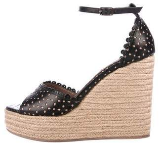Tabitha Simmons Scallop Wedge Sandals