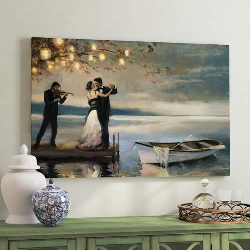 Alcott Hill 'Twilight Romance' Oil Painting Print on Wrapped Canvas