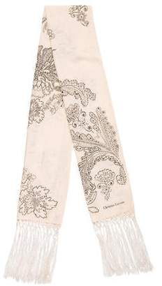 Christian Lacroix Printed Fringe Scarf