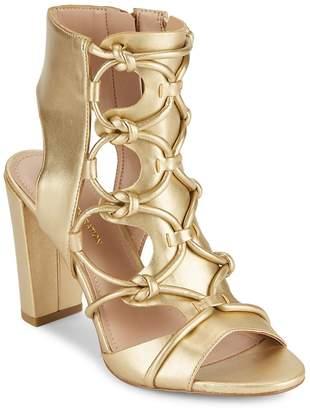 BCBGeneration Women's Fay Metallic Lace-Up Sandals