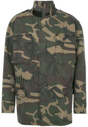 Yeezy oversized camouflage parka