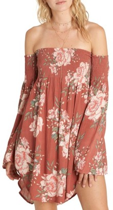 Women's Billabong Night Fox Off The Shoulder Dress $54.95 thestylecure.com