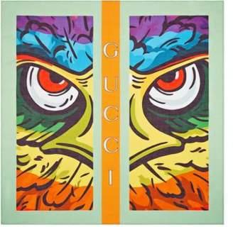 Gucci Cotton carré with eagle print