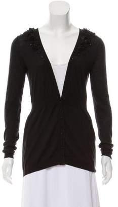 Rebecca Taylor Embellished Long Sleeve Cardigan