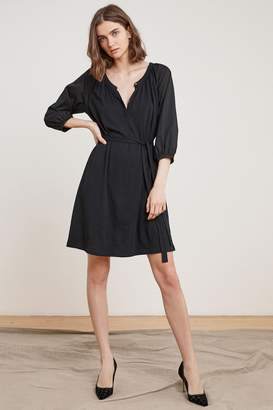 Velvet by Graham & Spencer SHARRONA COTTON CONTRAST HENLEY DRESS