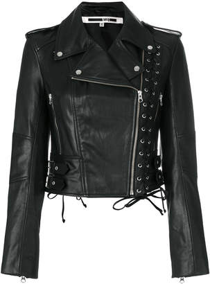 McQ eyelet biker jacket