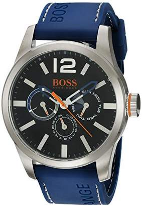 HUGO BOSS Orange Men's Quartz Stainless Steel and Leather Casual Watch