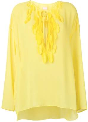 Giamba feather tassel blouse