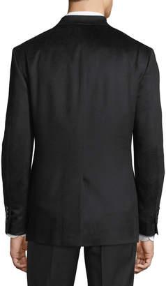Neiman Marcus Cashmere Two-Button Blazer, Black