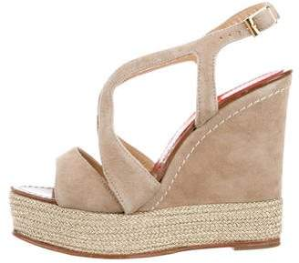 Paloma Barceló Palomitas by Suede Platform Wedges
