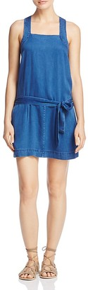PAIGE Winnie Belted Denim Dress $199 thestylecure.com