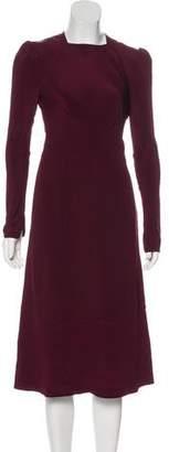 Vilshenko Long Sleeve Midi Dress