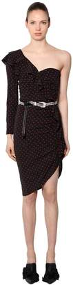 Veronica Beard Leona Polka Dot Silk Dress