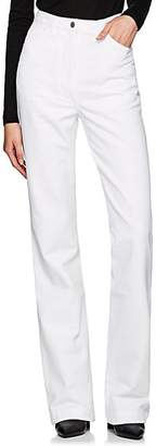 A PLAN APPLICATION Women's High-Rise Boot-Cut Jeans - White