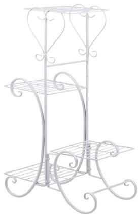 haisealing4 Wrought Iron 4 Layers Flower Pot Plant Stand Holder Rack Display Shelf