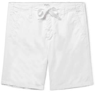 Hartford Slim-Fit Cotton-Twill Drawstring Shorts